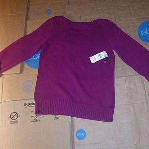 Jones New York M Womens Purple Sweatshirt